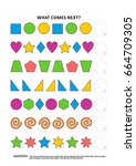 shapes and colors themed... | Shutterstock .eps vector #664709305