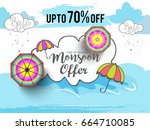 illustration sale banner sale... | Shutterstock .eps vector #664710085