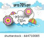 illustration sale banner sale... | Shutterstock .eps vector #664710085
