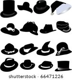 hat set vector | Shutterstock .eps vector #66471226
