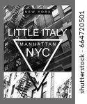 photo print new york little... | Shutterstock . vector #664720501