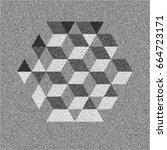honeycomb background. 3d mosaic....   Shutterstock .eps vector #664723171