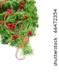 new year and christmas border | Shutterstock . vector #66472354