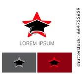 star graduation hat education... | Shutterstock .eps vector #664723639