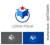 star cube company logo | Shutterstock .eps vector #664723645
