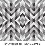 geometric background. black and ... | Shutterstock .eps vector #664723951
