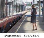 oslo   june 15  2017  railway... | Shutterstock . vector #664725571