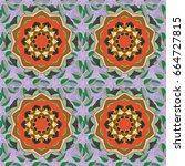 vector mehndi pattern  set of... | Shutterstock .eps vector #664727815