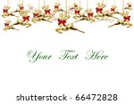 Reindeer dolls decoration on white background with space for message - stock photo