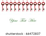 Christmas decoration on white background with space for message - stock photo