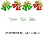 Christmas Bells on white background with space for message - stock photo