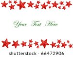 Christmas stars decoration on white background with space for message - stock photo