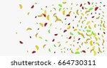vector hand painted watermelon  ... | Shutterstock .eps vector #664730311