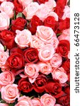 Stock photo pink and red roses 66473128