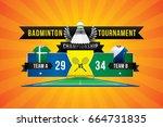 badminton tournament design... | Shutterstock .eps vector #664731835
