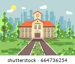 stock vector illustration back... | Shutterstock .eps vector #664736254
