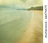 Grunge Image Of Beach