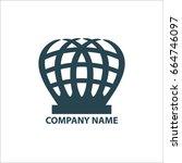 design geometric logo for... | Shutterstock .eps vector #664746097