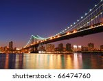 new york city manhattan bridge... | Shutterstock . vector #66474760