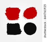 set of abstract blots. grunge ... | Shutterstock .eps vector #664761925