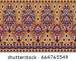 seamless traditional indian... | Shutterstock . vector #664765549