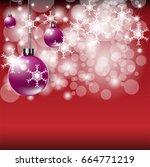 merry christmas background for... | Shutterstock .eps vector #664771219