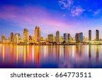 san diego  california  usa... | Shutterstock . vector #664773511