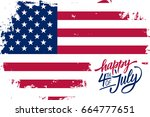 happy 4th of july usa... | Shutterstock .eps vector #664777651