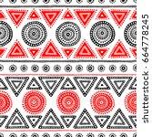 seamless ethnic pattern. tribal ... | Shutterstock .eps vector #664778245