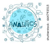 analitics concept. web and... | Shutterstock .eps vector #664793515