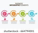 modern infographic options...   Shutterstock .eps vector #664794001