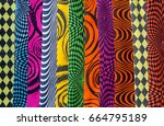 different types and colors of... | Shutterstock . vector #664795189