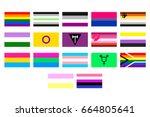 vector illustrations set of the ... | Shutterstock .eps vector #664805641