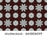 antique white repeatable...   Shutterstock . vector #664806049