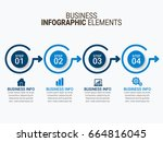 business infographic | Shutterstock .eps vector #664816045