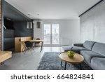 gray living room with sofa ...