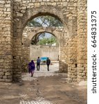 Small photo of HARAR, ETHIOPIA-MARCH 26, 2017: Buda Gate, also known as Badro bari, Karra Budawa, or Hakim Gate, is one of the entrances to Jugol, the walled city included in the World Heritage List by UNESCO.