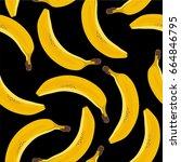 banana seamless pattern | Shutterstock .eps vector #664846795