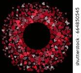 round red frame or border of... | Shutterstock .eps vector #664850545