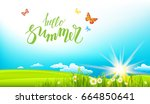 summer or spring landscape for... | Shutterstock .eps vector #664850641