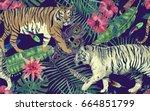 seamless watercolor pattern... | Shutterstock . vector #664851799