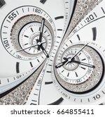 futuristic modern strass... | Shutterstock . vector #664855411