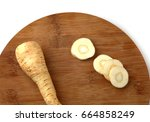 Sliced Parsnip Root Isolated O...
