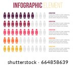 people showing info. colorful... | Shutterstock .eps vector #664858639