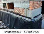 waterproofing foundation... | Shutterstock . vector #664858921