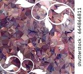 abstract elegant mosaic... | Shutterstock . vector #664866811