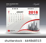 Desk Calendar For 2018 Year ...