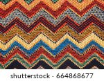 texture of  fabric with ... | Shutterstock . vector #664868677