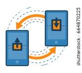 transferring data from one...   Shutterstock .eps vector #664870225