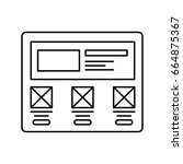 wireframe in screen lined icon. ...